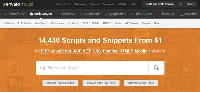 Envato market : pour trouver des plugins WordPress
