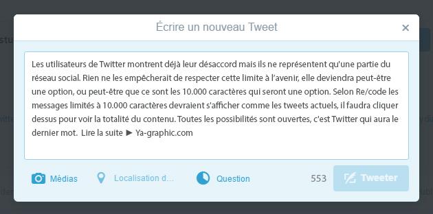 Twitter: de 140 à 10.000 caractères dans les tweets?
