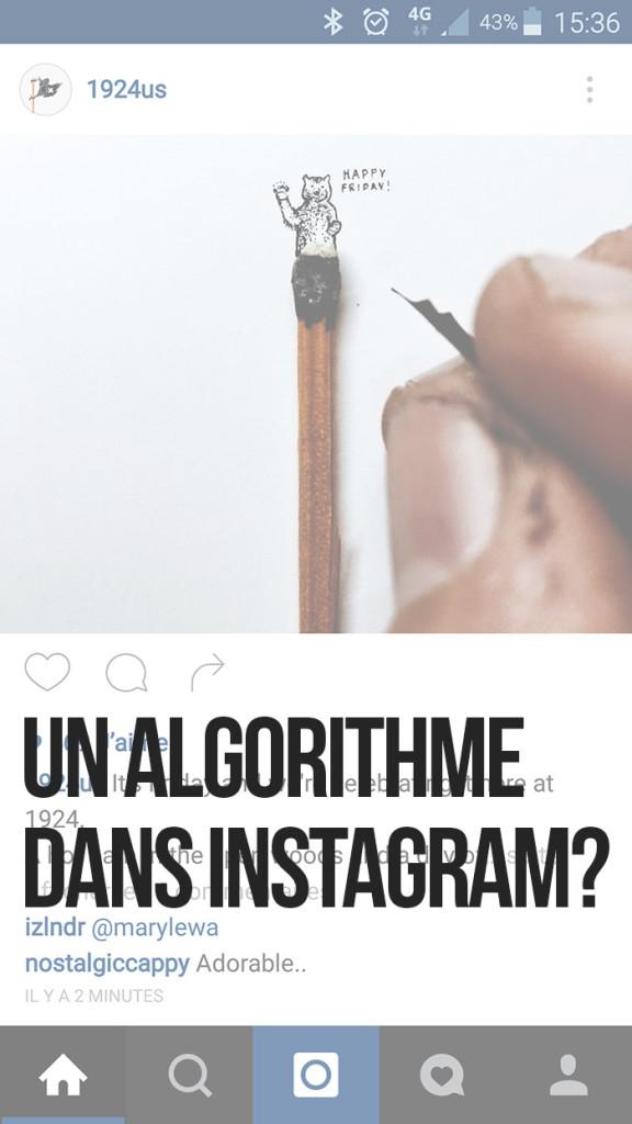 Un algorithme dans Instagram ?