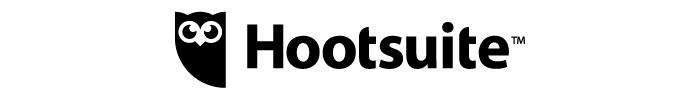 Logo Hootsuite noir