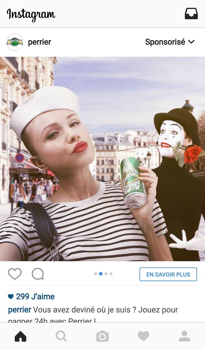 Devinette Perrier dans Instagram