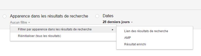 Apparence dans les résultats de recherche (Search Console)