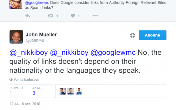 Faut-il désavouer les liens entrants de sites étrangers ?