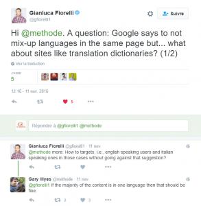 Plusieurs langues dans une même page web