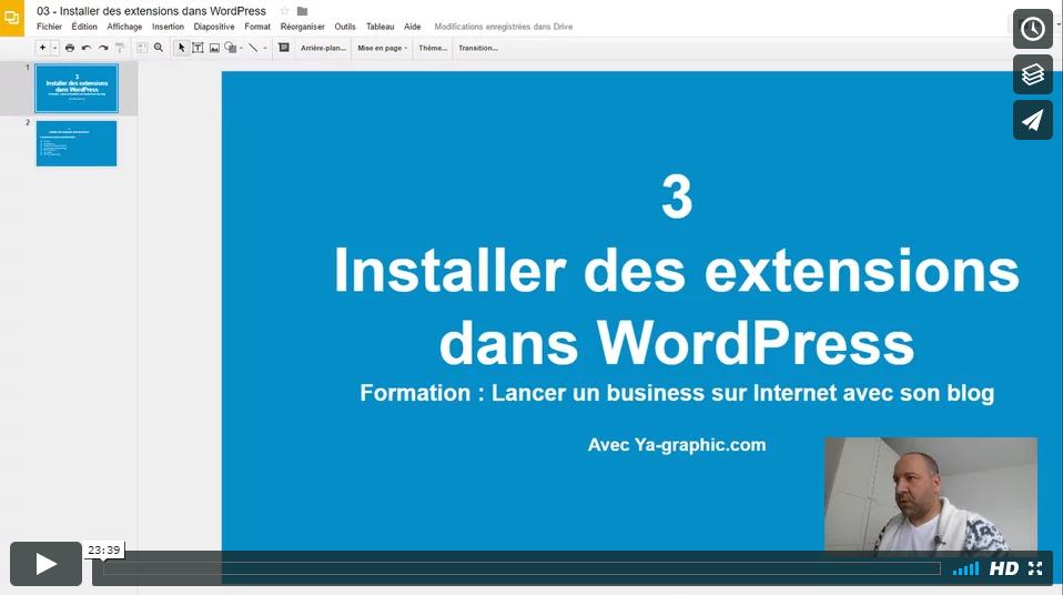 03 - Comment installer des extensions dans WordPress