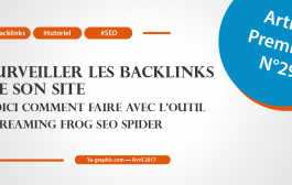 Surveiller ses backlinks avec l'outil Screaming Frog SEO Spider