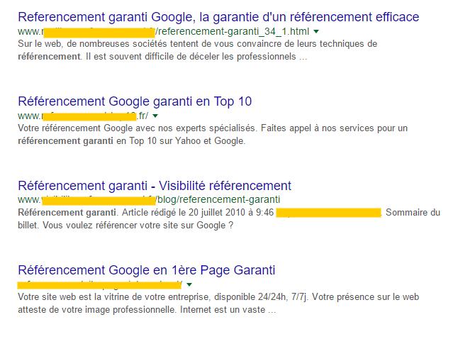 Recherche Google : référencement garanti