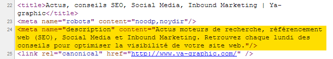 Exemple de balise meta description