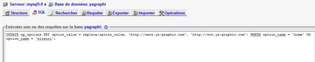 Update MySQL
