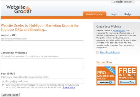 L'Outil SEO pour analyser la strucure de votre site Internet : Website Grader