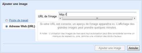 L'option images de Gmail