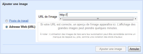 Gmail l'option images