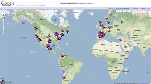 La propagation de la grippe porcine illustrée en temps réel dans Google Maps