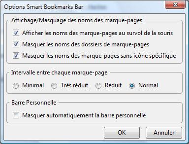 Configurer Smart Bookmarks Bar