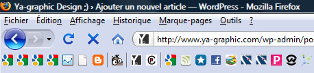 Smart Bookmarks Bar module Firefox