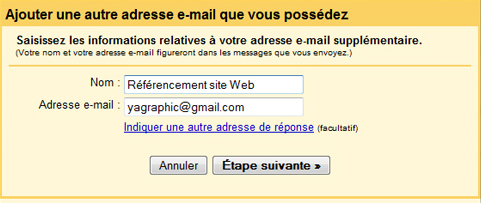 Ajouter votre autre adresse e-mail Gmail