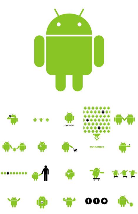 Logo robot Google Androïd