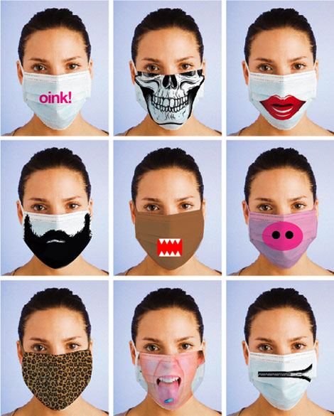 Masques grippe porcine fashion