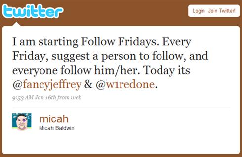 Le premier tweet Follow Friday