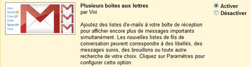 Plusieurs boîtes aux lettres de Gmail