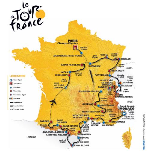 Carte du parcours 2009