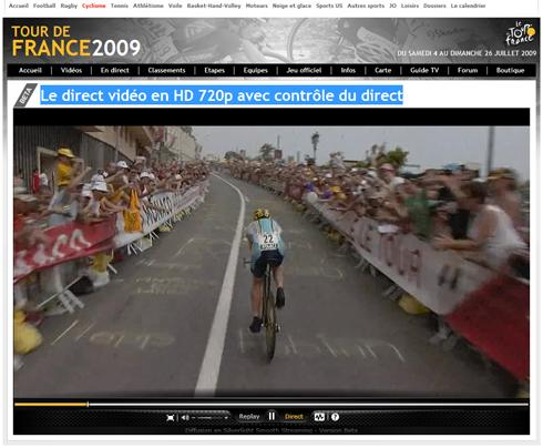 Le direct vidéo en hd 720p avec controle du direct