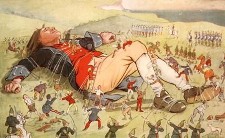 Gulliver et les Lilliputiens