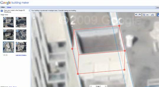 Google - Modélisateur de bâtiments 3D