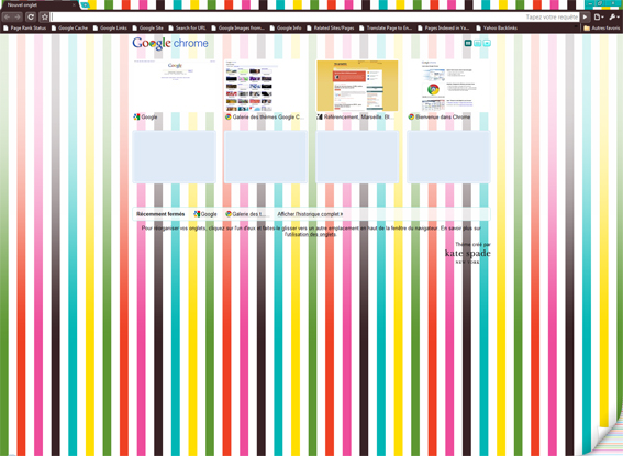 Google Chrome et ses thèmes artistiques