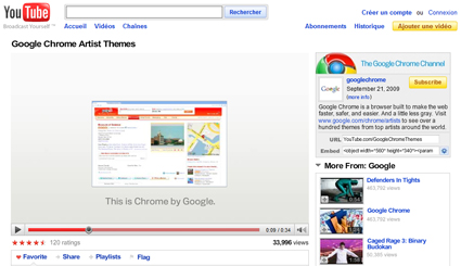 http://www.youtube.com/googlechromethemes