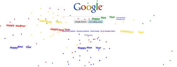Bonne Année 2010 avec Google !