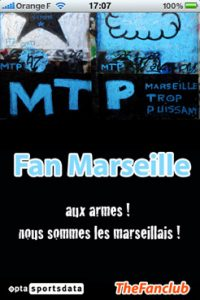 Application iPhone pour les fans de l'OM et de Marseille