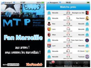 Fan Marseille - application iPhone