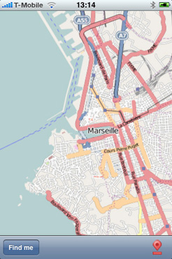Marseille street map lite - application iPhone