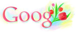 Journée Mondiale de la femme en Russie - google doodle