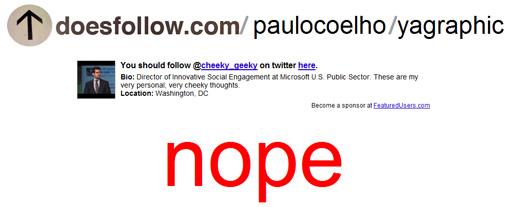 doesfollow.com - twitter Paulo Coelho