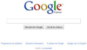 Nouveau design de Google