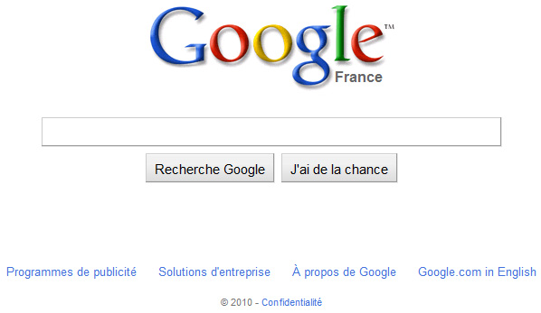 Ancien design de Google