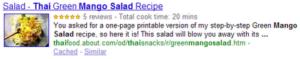 Résultats de recherche google - Richs snippets de Google