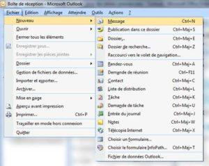 Créer un nouveau message Outlook
