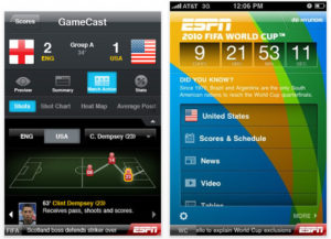 application iphone mondial 2010 foot ESPN 2010 FIFA World Cup