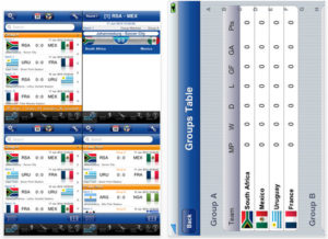 application iphone South Africa 2010 tracker