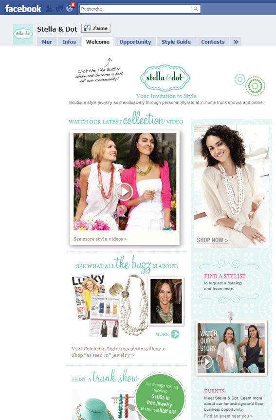 Page Facebook Stella & Dot
