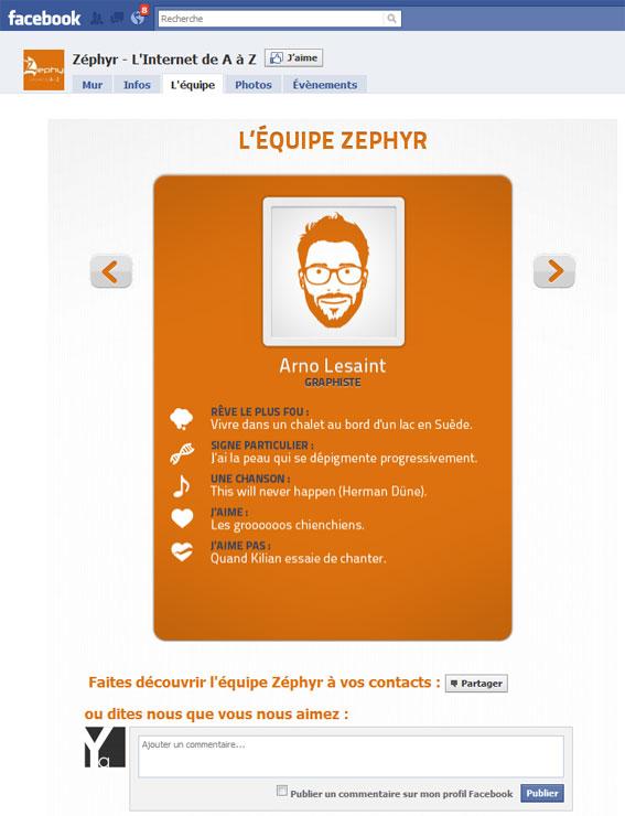 Page Facebook Zéphyr