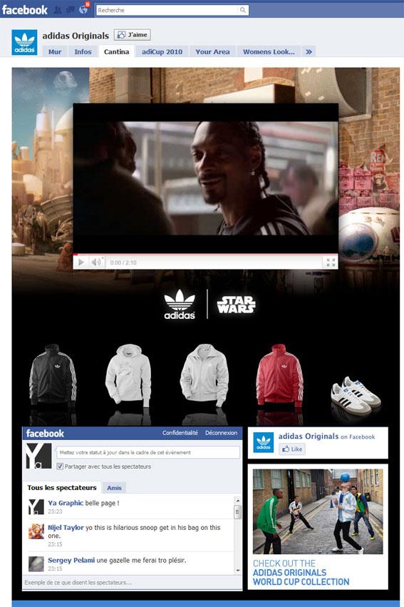 Page Facebook Adidas