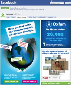 Page Facebook Oxfam GB