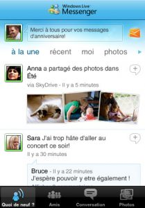 Windows Live-messenger sur iPhone