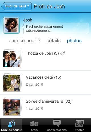 Windows Live Messenger pour iPhone