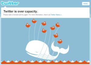 baleine Twitter site indisponible