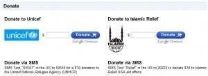 Google dédie une page au Pakistan pour faire un don